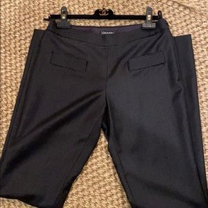 Authentic Chanel gray flannel pants. Size 40